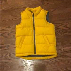 Yellow Old Navy Puffer Vest